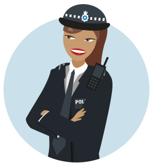 Image result for lady police officer uk cartoon