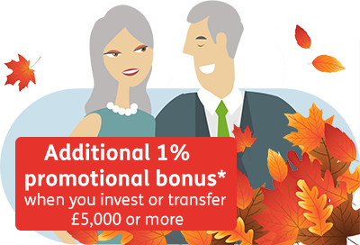 Additional 1% bonus when you invest or transfer £5,000 or more